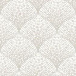 Beaux Arts 2 Silver Mosaic Tile