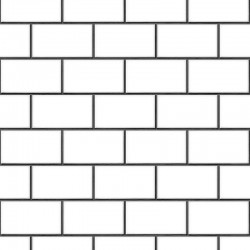 Beaux Arts 2 Brick Tile White