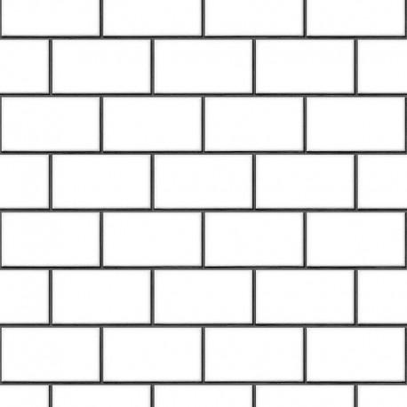 Beaux Arts 2 Brick Tile White