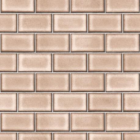 Beaux Arts 2 Brick Tile Mink Brown
