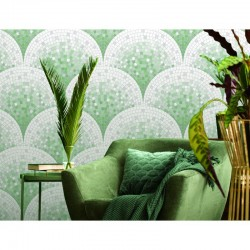 Beaux Arts 2 Green Mosaic Tile