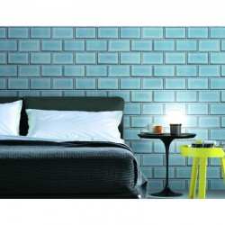 Beaux Arts 2 Brick Tile Light Blue