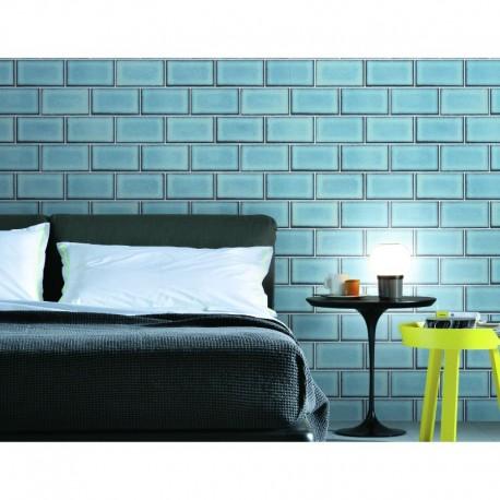 Beaux Arts 2 Brick Tile Light Blue