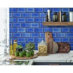 Beaux Arts 2 Brick Tile Dark Blue