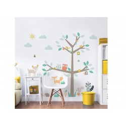 Woodland Tree & Friends Large Character Wall Sticker