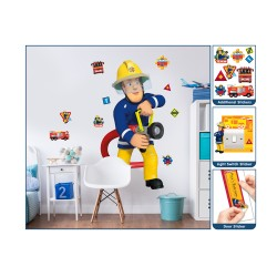 Fireman Sam Large Character Wall Sticker
