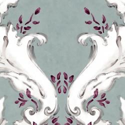 Ornamental Plata Grey Damask