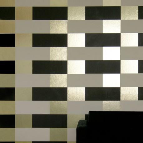 Block Cream, Brown, Gold Wallpaper
