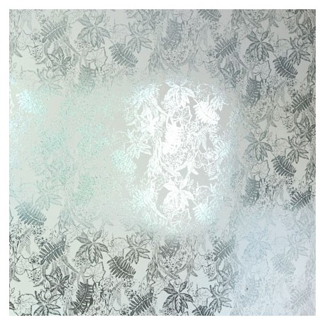 Hothouse Silver, Jade Wallpaper