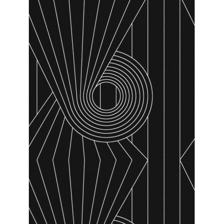 Spiral Black Wallpaper