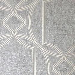 Deco Geo Taupe Grey Trellis