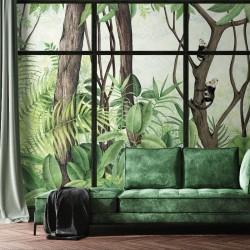 Casa de Vidro Sunrise Frame Wall Mural