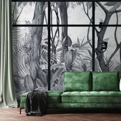 Casa de Vidro Off Grey Frame Wall Mural