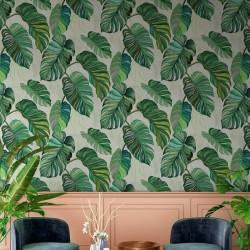 Carioca Green Palm Leaf