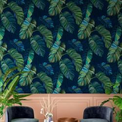 Carioca Grey Palm Leaf