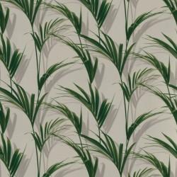 Lush Leaves Green & White