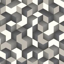 Cube 3D Effect Grey & Silver