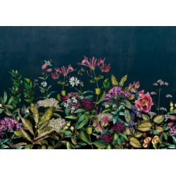 Wild Floral Night Wall Mural