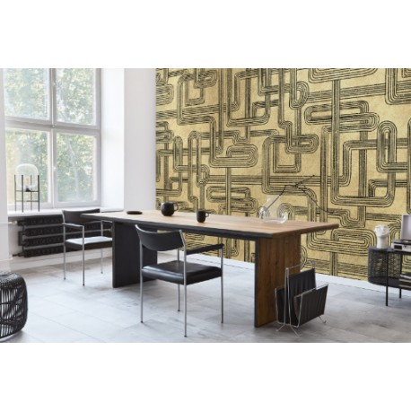 Koi Metallic Gold Mural