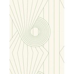 Spiral Green & Cream Wallpaper