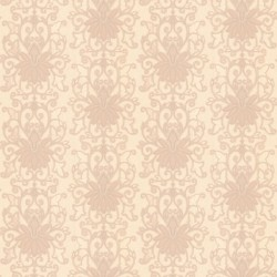 Vesta Beige Damask Wallpaper