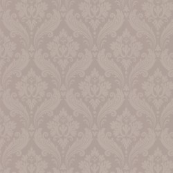Vintage Flock Taupe Grey Wallpaper