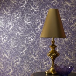 Flourish Purple Wallpaper