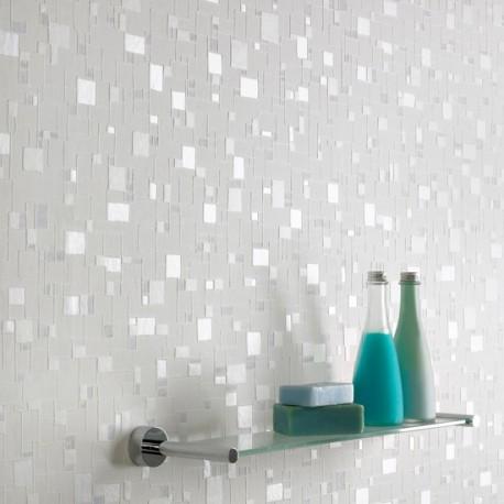 Spa Blue Tile Effect Wallpaper
