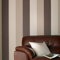 Java Brown and Cream Stripe
