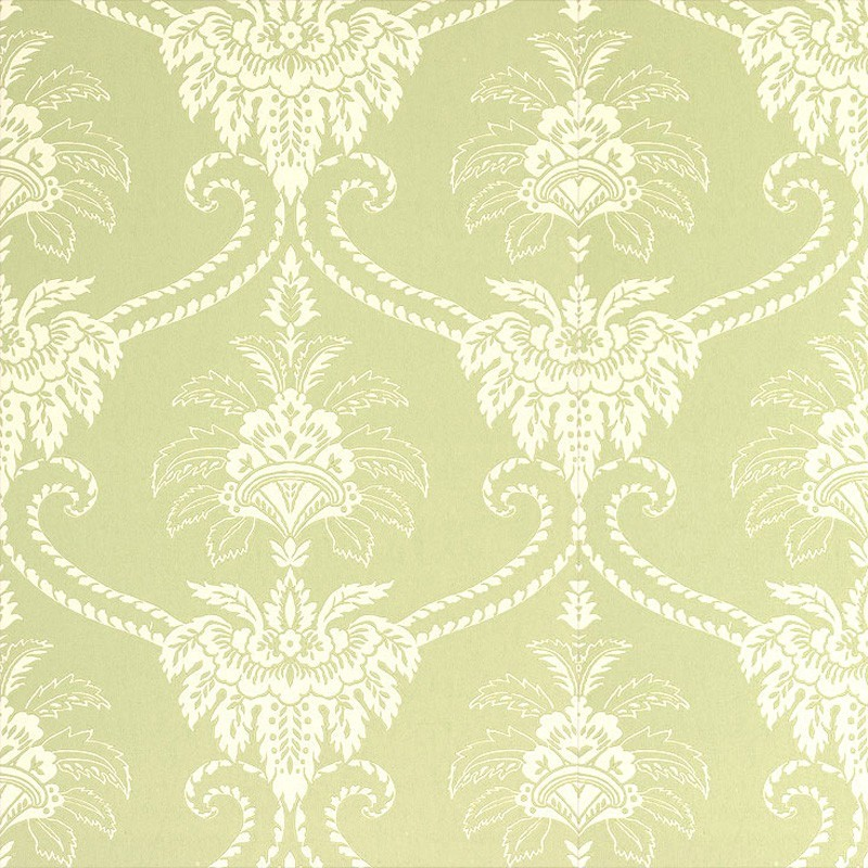 Damask Olive Green And Cream At10067 Wp010