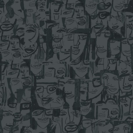 Caras Tres Wallpaper Dark Grey Buy Online