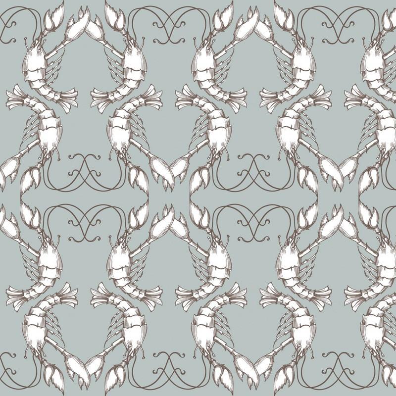 lobster wallpaper grey wallpaper buy wallpaper direct online. Black Bedroom Furniture Sets. Home Design Ideas