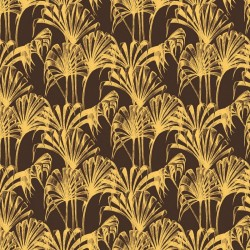 Pavilion Palm Gold & Brown Wallpaper