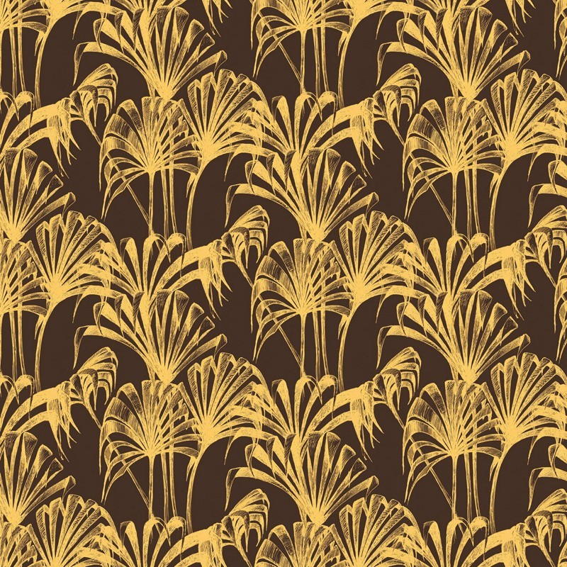 Pavilion Palm Wallpaper Gold Brown Wallpaper Wallpaper