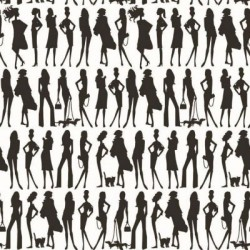 Bond Girls Black and White Wallpaper