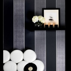 Bold Stripe Black and Silver