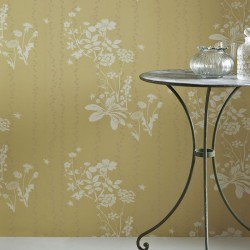 Wild Meadow Yellow Wallpaper