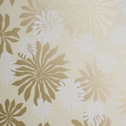 Fleur Cream & Gold Wallpaper