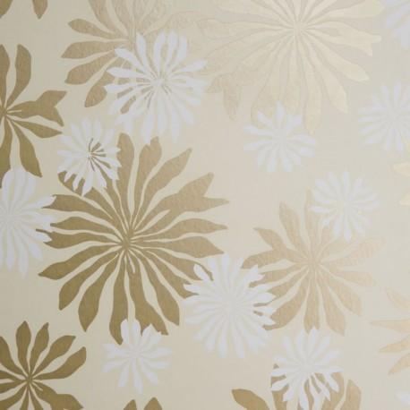 Fleur Cream Gold Wallpaper