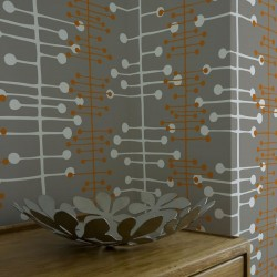 Muscat Dark Grey Retro Wallpaper