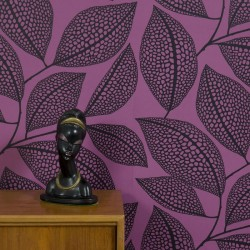 Pebble Leaf Purple Wallpaper