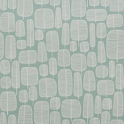Little Trees Aqua Teal Wallpaper
