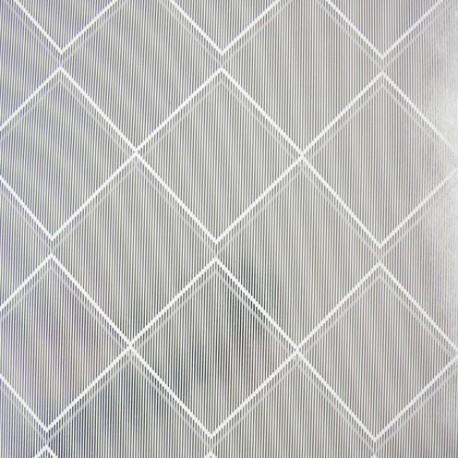 Argyle White Silver Wallpaper