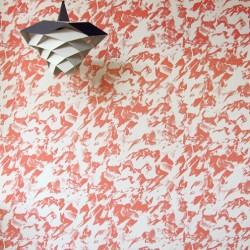 Desert Coral & White Wallpaper