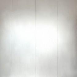 Microstripe White and Silver Wallpaper