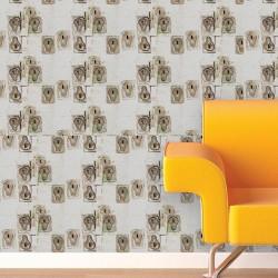 Utilities Taupe Wallpaper