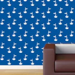 Eros White on Blue Wallpaper