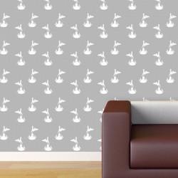 Eros White Grey Wallpaper