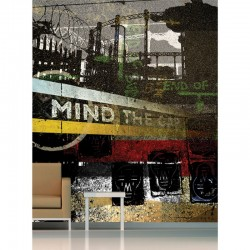 Mind The Gap Wall Mural