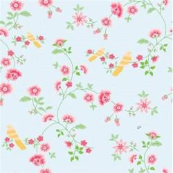 Bird Branches Blue Wallpaper